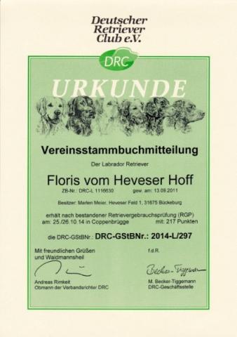 Floris vom Heveser Hoff (RGP)