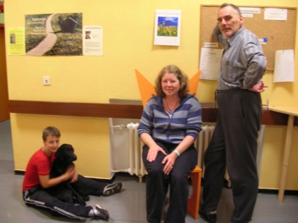 Patienten mit Donna auf Station, mit freundlicher Genehmigung der Patienten zur Veröffentlichung